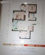 滨河城市经典2室2厅1卫97--98平方米户型图