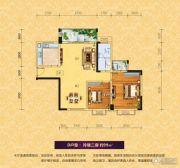 浯溪御园2室1厅1卫99平方米户型图