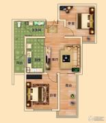 金河名都2室1厅1卫75平方米户型图