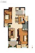 康桥知园3室2厅1卫89平方米户型图