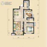荣民宫园中央2室2厅1卫90平方米户型图