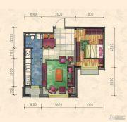 力旺康城1室1厅1卫60平方米户型图