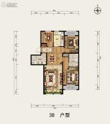 京西・金泰丽湾3室2厅2卫120平方米户型图