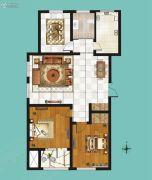 鸿泰・花漾城3室2厅1卫99平方米户型图