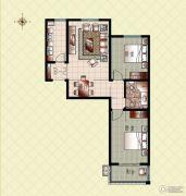上起澜湾2室2厅1卫94平方米户型图