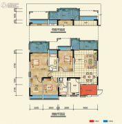置信凯旋国际4室2厅2卫105--111平方米户型图