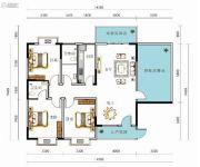 九悦廷3室2厅2卫124--159平方米户型图