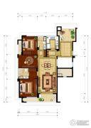 绿城・玉兰花园3室2厅2卫139平方米户型图