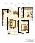 山水泉城2室2厅1卫97平方米户型图