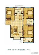 米兰印象3室2厅1卫108平方米户型图