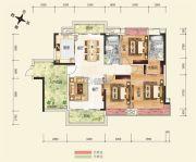 广博峰景3室2厅2卫135平方米户型图