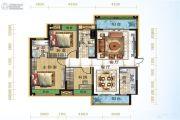 宜化绿洲新城3室2厅2卫106平方米户型图