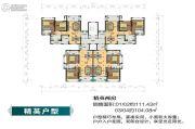 南方梅园2室2厅2卫104--111平方米户型图
