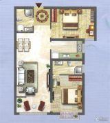 中央名都2室2厅2卫92平方米户型图