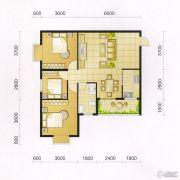 东城・华府3室2厅2卫100平方米户型图