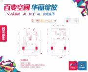 金钟・时代城1室1厅1卫0平方米户型图