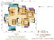 芸峰兰亭3室2厅2卫0平方米户型图