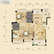 香岸华府二期3室2厅2卫121平方米户型图