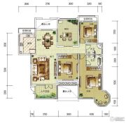 华润中央公园3室2厅2卫162平方米户型图