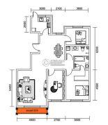 千翔尚城3室2厅2卫135平方米户型图