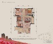 融汇半岛玫瑰公馆3室2厅2卫100平方米户型图