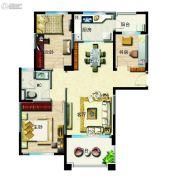 无锡碧桂园3室2厅1卫120平方米户型图