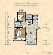 国际华城四期2室2厅1卫101平方米户型图