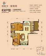 醴陵新华联广场3室2厅2卫126平方米户型图
