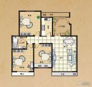 东方今典3室2厅1卫116平方米户型图