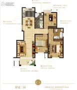 花园半岛 高层3室2厅2卫136平方米户型图