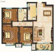 未来花郡3室2厅1卫99平方米户型图