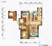 奥克斯缔壹城3室2厅2卫119平方米户型图