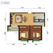 新元绿洲三期2室2厅1卫0平方米户型图