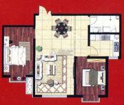 阿穆尔嘉园2室2厅1卫92平方米户型图