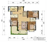 上上城・壹号院3室2厅2卫129平方米户型图
