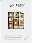 冠郡铭苑3室2厅2卫126平方米户型图