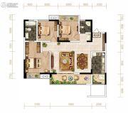 芙蓉・四季花城3室2厅2卫102平方米户型图