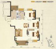 凯旋堡3室2厅1卫92--93平方米户型图