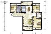 广厦名都3室2厅2卫125平方米户型图