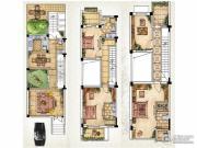 绿洲天逸城3室2厅3卫176平方米户型图