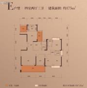 富辰・�箸缤�4室2厅3卫174--175平方米户型图