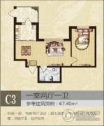 北岸七英里1室2厅1卫0平方米户型图