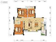 积家御景3室2厅1卫89平方米户型图