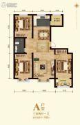 弘�x里3室2厅1卫0平方米户型图