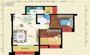 盛世天彭2室2厅1卫77平方米户型图