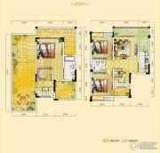 远达天际上城3室2厅2卫124平方米户型图