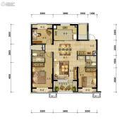 万科圣丰・翡翠之光3室2厅2卫118平方米户型图