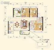 江海天悦3室2厅2卫0平方米户型图