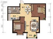 海德堡庄园2室2厅1卫88平方米户型图