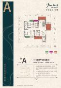 银港国际4室2厅2卫145平方米户型图